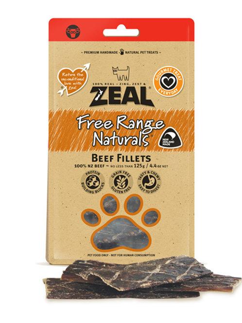 Zeal Beef Fillets 125g [for dog]