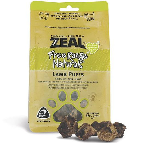 Zeal Lamb puffs 85g [for cat/dog]