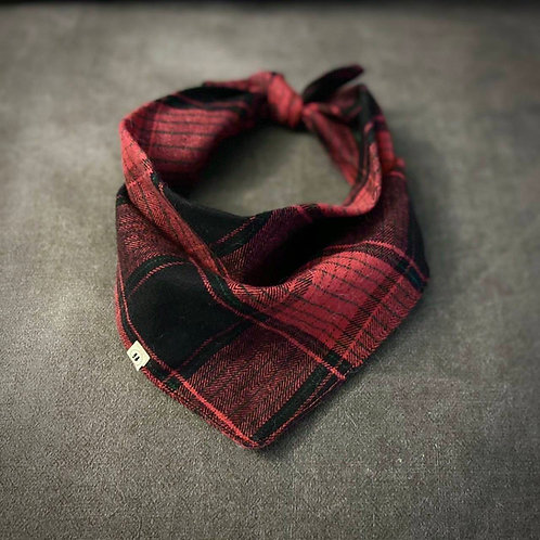 Red Plaid Flannel Bandana