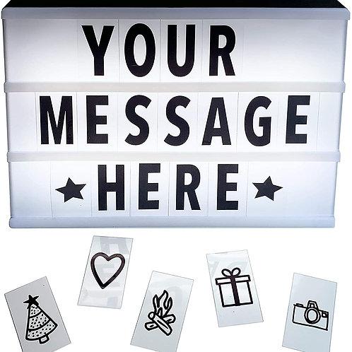 LED Messaging Light Box