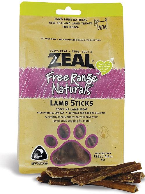 Zeal Lamb sticks 125g [for dog]