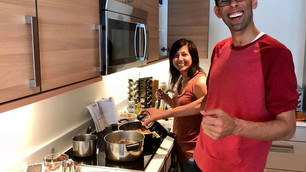 Cooking a Thai meal after returning from Thailand