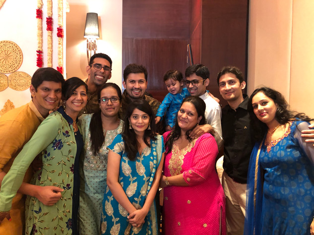 With the cousins in India!