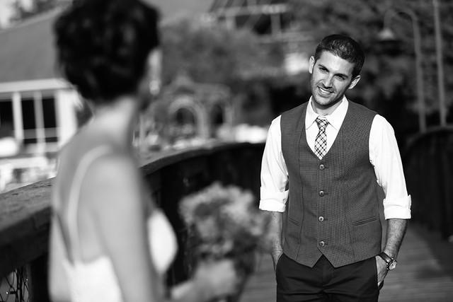 כלה וחתן בשחור לבן - לירון ברייר דנציגר צילום