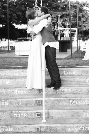 צילומי חתונה בשחור לבן