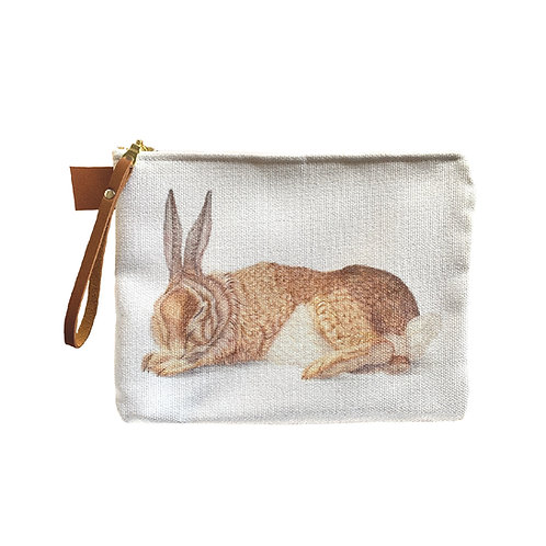Resting Rabbit Pouch