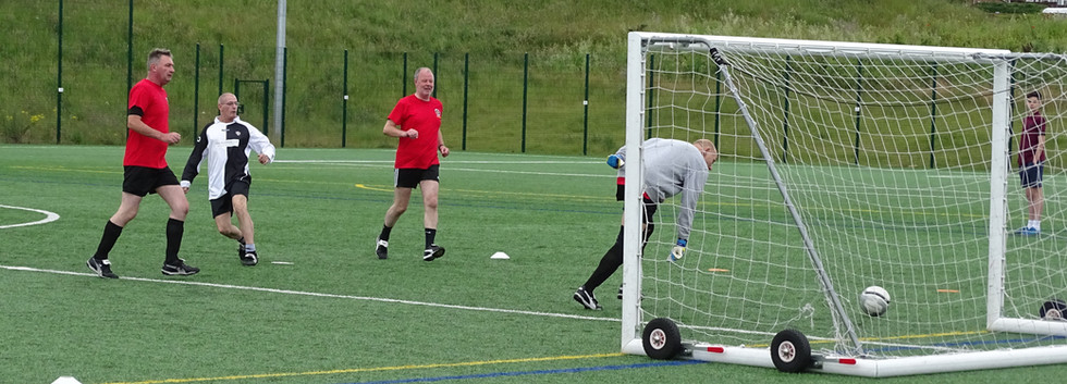 Stamford Strollers v Long Bennington Walking Football Round Robin July 3rd 2016