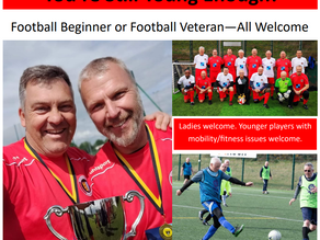 New Walking Football Sessions at Bourne Lincs - Players Needed