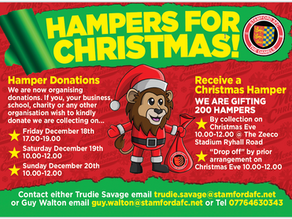 Stamford AFC Hampers for Christmas