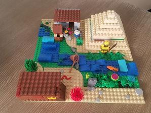 Lego Egyptian Villge a Brook creation