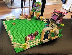 creative Lego riding stable