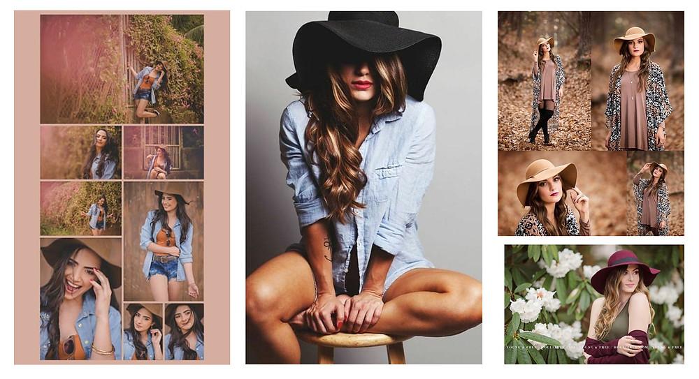 Ensaios com chapéu no Pinterest