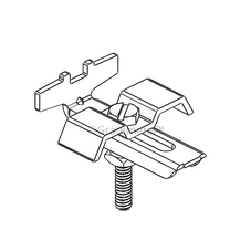 Grating fixing clamp