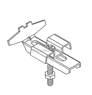 Bar grating clip