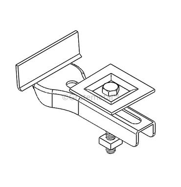 Square recessed clip
