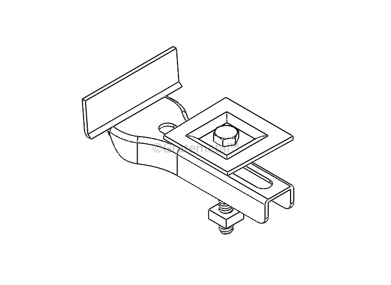 Square recessed clip