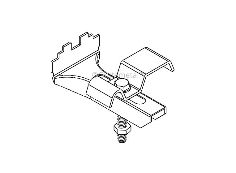 Galvanized grating clip