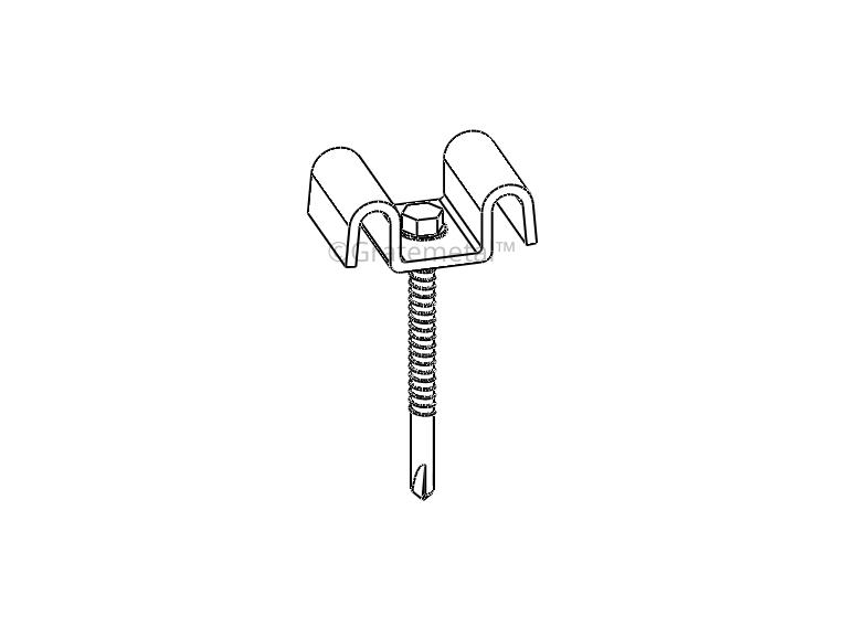 Saddle clip