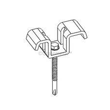 Deep saddle clip