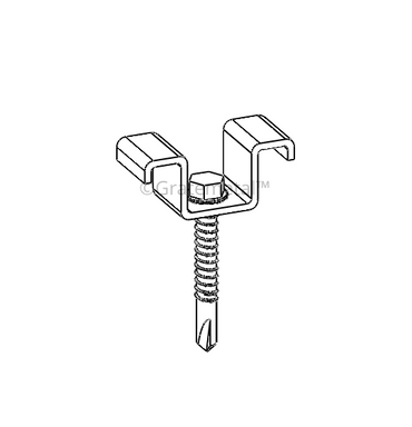 Solar walkway clamp