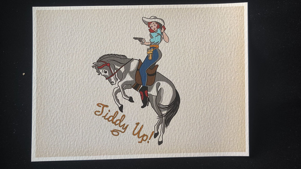 Tiddy Up! Cowgirl 5x7