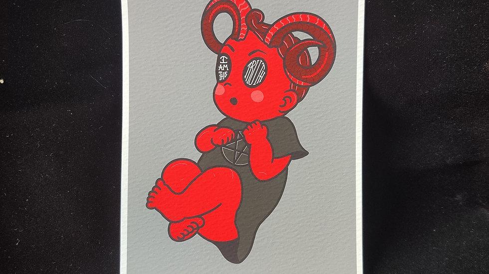 AJJ Small Red Boy 5x7