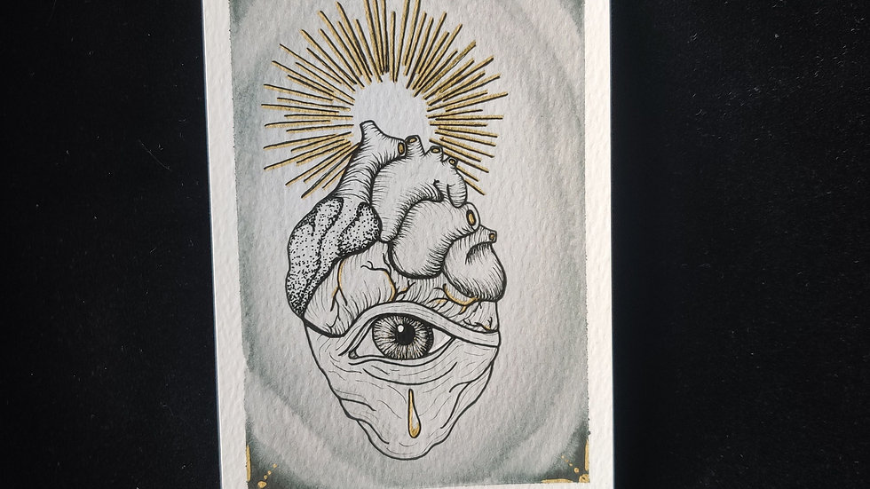 All Seeing Heart 4x6