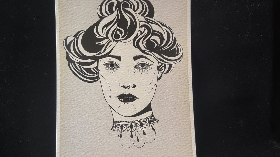 Victorian Lady, Lace Collar 5x7