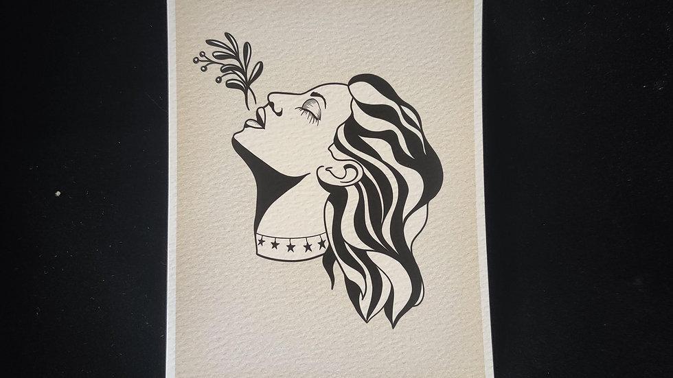 Plant Lady, Star Collar 5x7