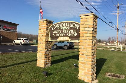 L. Wood & Son sign