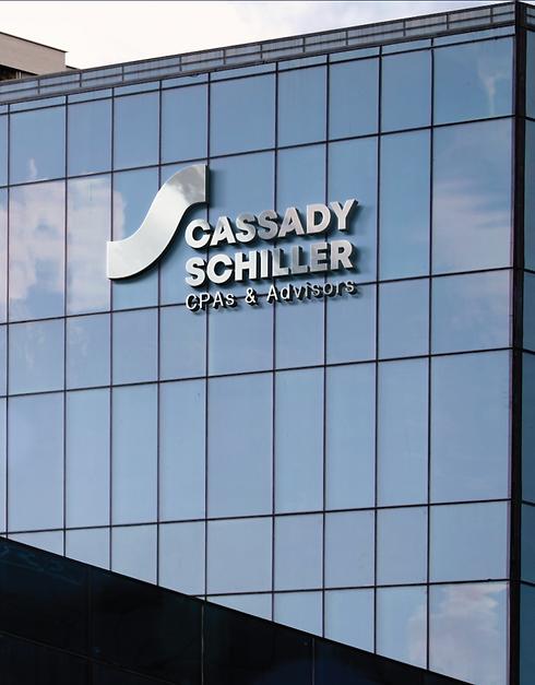 Cassady Schiller building signage, logo