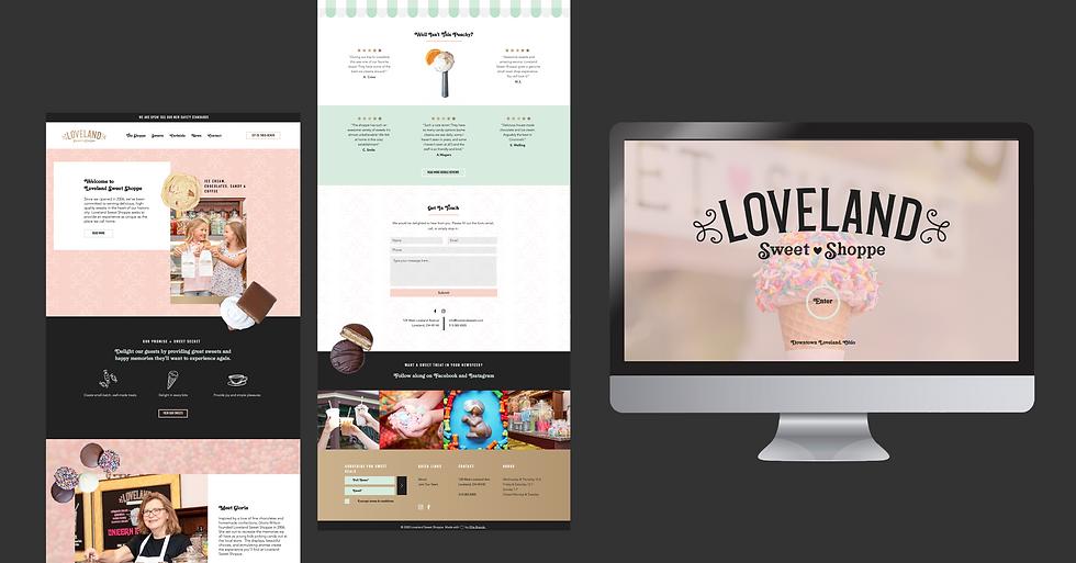 Loveland Sweet Shoppe website design