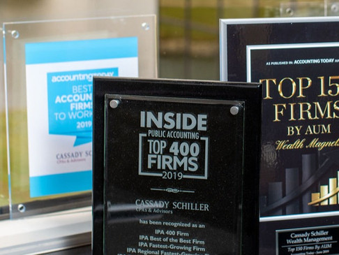 Cassady Schiller Recognized by Accounting Today as Best Accounting Firms to Work For in 2020