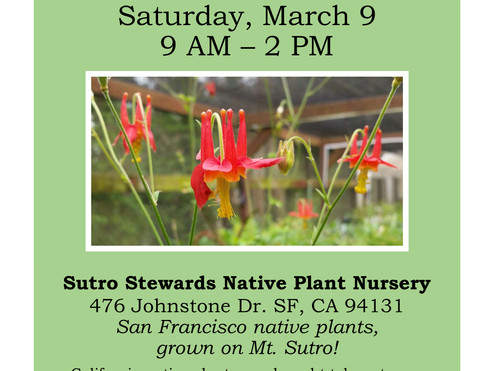 Plant Sale! This Saturday, March 9 *at the Aldea Center