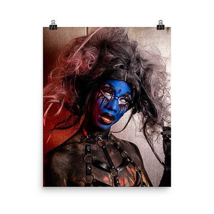 Maxi Glamour 'Blue Demon' Print