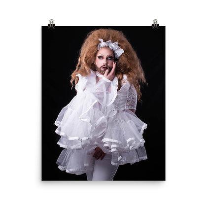 Peach Fuzz 'Angelic White' Print