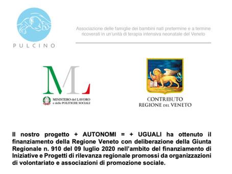 Progetto + AUTONOMI = + UGUALI