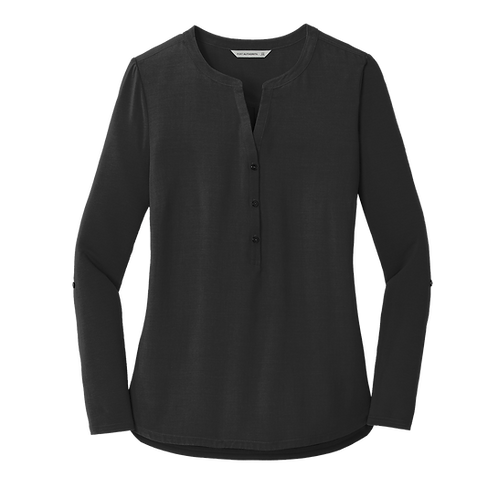 LK5432  Port Authority® Ladies Concept Henley Tunic