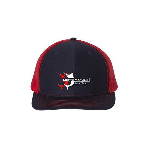 C112  Richardson Snapback Trucker Cap -Marlins
