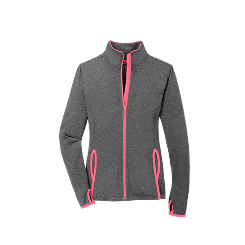 LST853  Sport-Tek® Ladies Sport-Wick® Stretch Contrast Full-Zip Jacket