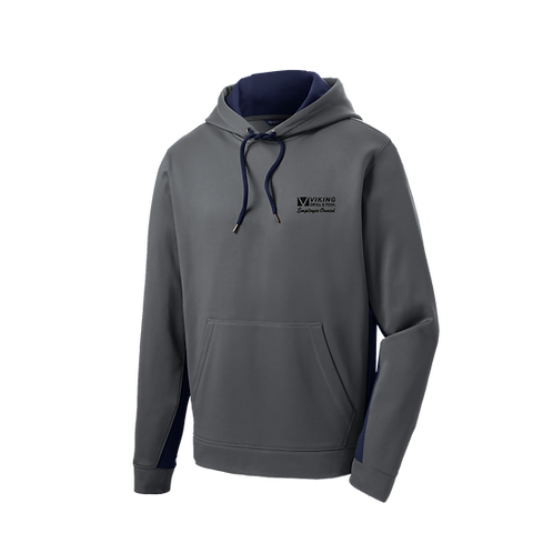 ST235 Sport-Tek® Sport-Wick® Fleece Colorblock Hooded Pullover