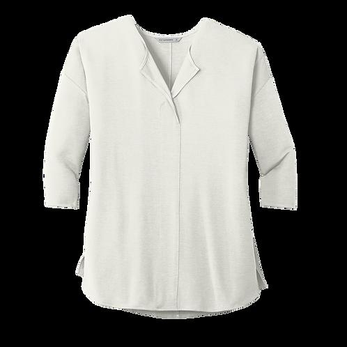 LK5433 Port Authority® Ladies Concept 3/4-Sleeve Soft Split Neck Top