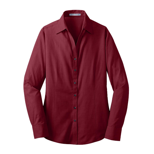 L640  Port Authority® Ladies Crosshatch Easy Care Shirt