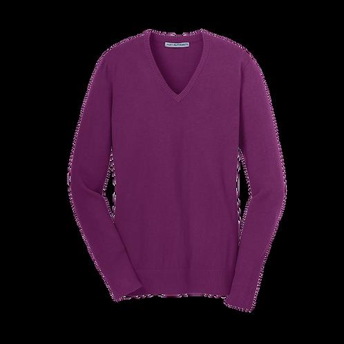 LSW285  Port Authority® Ladies V-Neck Sweater