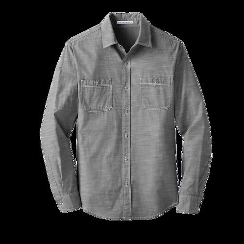 W380 Port Authority® Slub Chambray Shirt