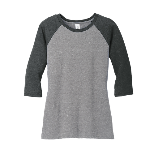 DM136L  District ® Women's Perfect Tri ® 3/4-Sleeve Raglan