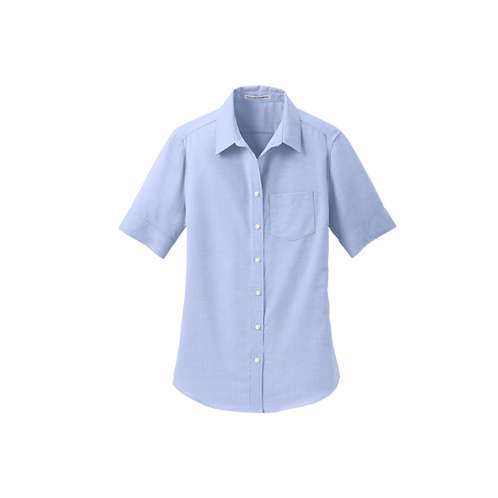 L659 Port Authority® Ladies Short Sleeve SuperPro™ Oxford Shirt