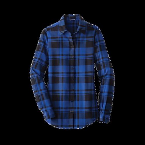 LW668 Port Authority® Ladies Plaid Flannel Tunic