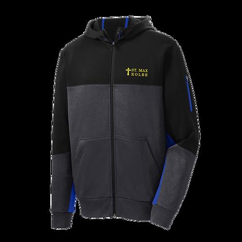 ST245 Embroidered Sport-Tek® Tech Fleece Colorblock Full-Zip Hooded Jacket
