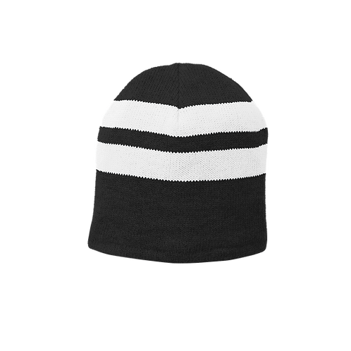 C922 Port & Company® Fleece-Lined Striped Beanie Cap